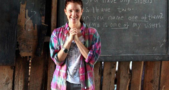 Drew Barrymore financial support school building in Kenya