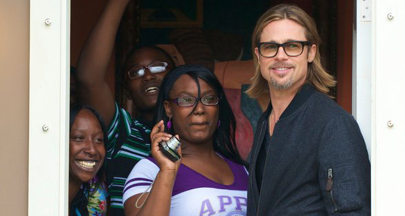 Brad Pitt visited New Orleans' Make It Right home