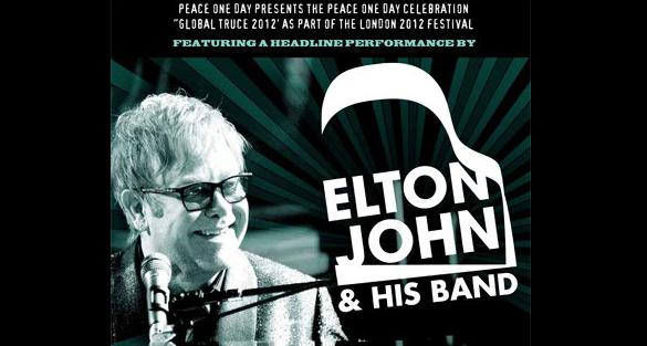 Sir Elton John to play for peace day