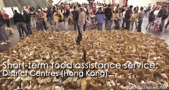 Short-Term Food Assistance Service – List of District Centres (HK)