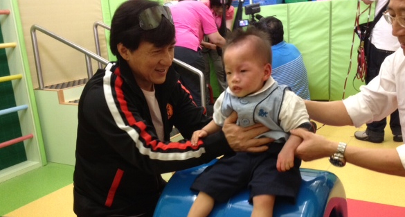 Jackie Visits Mentally Disabled Children