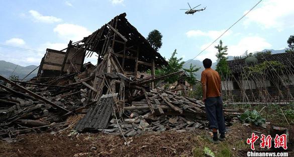 四川省雅安市蘆山縣發生6.6級地震 國家派出一萬八千名官兵協助救難