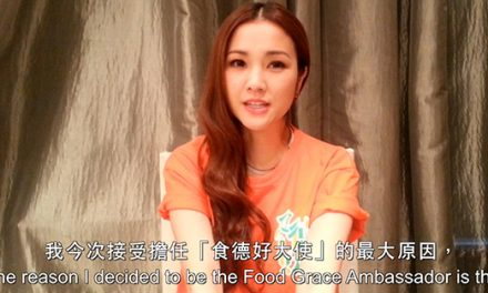 Kay Tse helps to raise awareness on food waste issue
