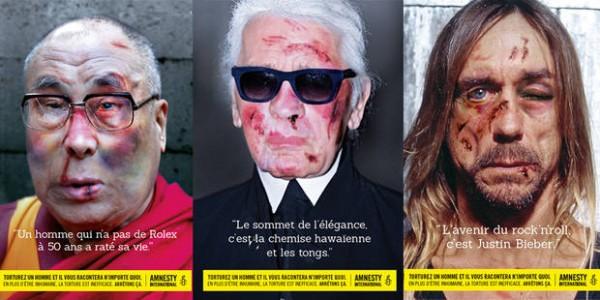 國際特赦組織反虐囚廣告