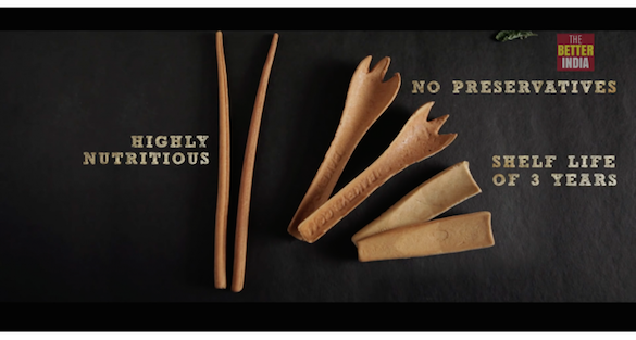 Edible spoon – substitutes of disposable utensils