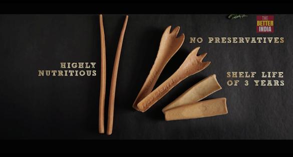 可以吃的湯匙 - 即棄塑膠餐具的代替品