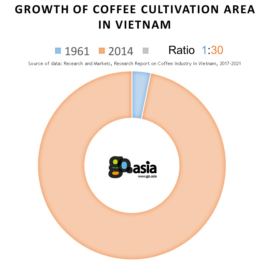 Growth of Coffee Cultivation Area in Vietnam