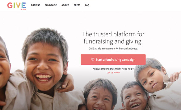 The Trusted Platform for Fundraising & Giving – Give.Asia launches in Hong Kong