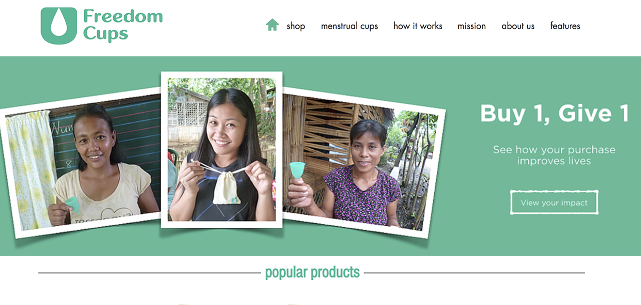 """Singapore –  Eco-friendly """"Freedom Cups"""" to change women's life"""