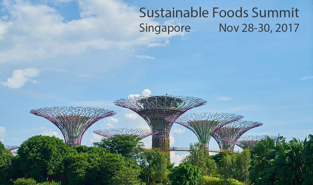 星加坡 – Sustainable Foods Summit (食物可持續發展研討會) I 11月28至30日