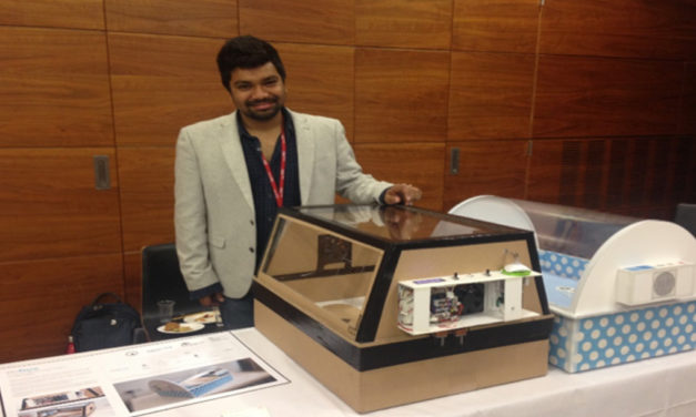 Malav Sanghavi invents a low-cost incubator for newborns in India without neonatal care