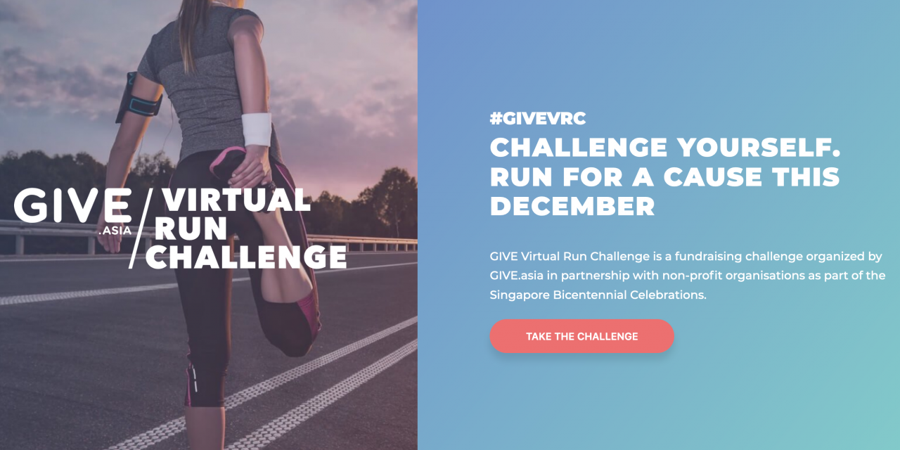 Give.Asia Virtual Run Challenge 2019 I Dec 7 -15